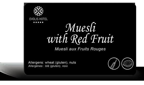 Muesli sample card