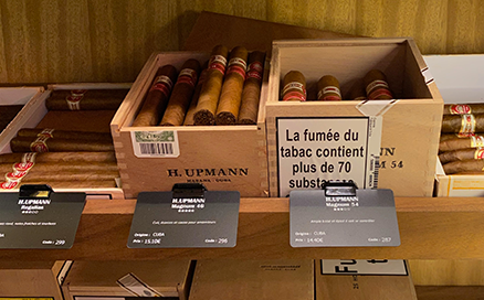 Etiquettes de prix pour cigares